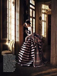 """Cinderella Story"": Edie Campbell in Fall Haute Couture by David Sims for US Vogue September 2013"