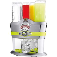 Margaritaville Mixed Drink Maker. Fill containers with liquor, cranberry juice, orange juice and sour mix for 48 pre-programmed drinks that will be mixed automatically! Also has an option for a stronger pour!