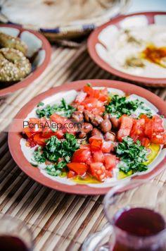 foul bel thiné syrian fava beans fèves crème de sésame tahineh