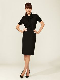 Carolina Herrera Wool Pencil Skirt  $399 Gilt