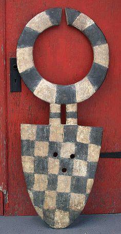 African Masks - Bedu plank mask