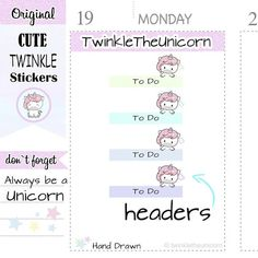 A307 | weekly to do headers,header planner stickers,planner #supplies @EtsyMktgTool http://etsy.me/2yoA2jA #weekly #todoheaders #header