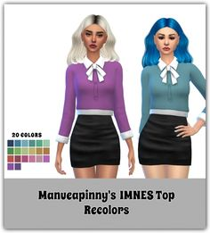 Imnes Top Recolors by maimouth at SimsWorkshop • Sims 4 Updates