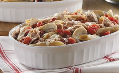 Zesty Italian Style Tuna Casserole