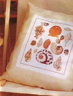 Cross Stitching, Blackwork, Crochet, Embroidery Patterns, Sea Shells, Needlework, Nautical, Bubbles, Projects To Try