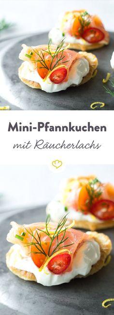 Dieser Snack schenkt deinen Gästen mit einem Bissen Glückseeligkeit. Lachs sorgt für wohlige Wärme und die Zitronenzesten frischen das Ganze angenhem auf.