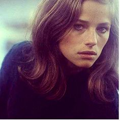 Charlotte Rampling..English actress from 60's and 70's. How i wear my hair now. Some styles just stand the test of time..