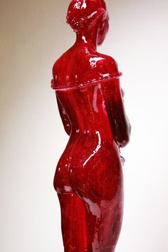 "Joseph Marr, this series of ""Laura"" sculptures are lifelike human forms sculpted completely out of preserved sugar."