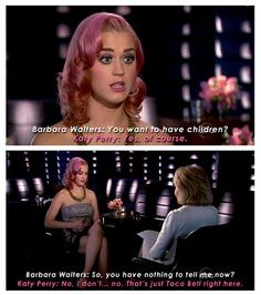 How to deal with rude questions... nicely done Katie Perry