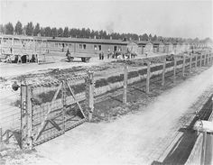 A section of the Dachau concentration camp. ( I toured the camp in 1993. Still horrifying!  I walked in one of the rooms where dead bodies had been kept until being placed into the furnace.  Such horror!)