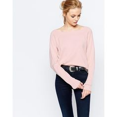 Vila Boatneck Jumper ($31) ❤ liked on Polyvore featuring tops, sweaters, peach blush, peach top, boatneck sweater, boat neck tops, vila and boat neck sweater