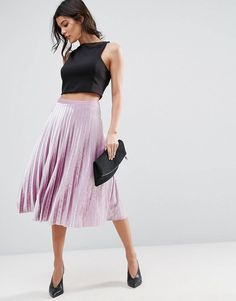 Shop ASOS Pleated Midi Skirt in Velvet. With a variety of delivery, payment and return options available, shopping with ASOS is easy and secure. Shop with ASOS today. Midi Skirt Outfit, Midi Skirts, Blouse And Skirt, Pleated Midi Skirt, Skirt Outfits, High Waisted Skirt, Fitted Skirt, Waist Skirt, Asos