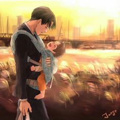 Levi x Child!Eren || Definitely see how Levi adores Eren and will definitely…