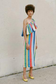 Mara Hoffman one-shoulder midi dress