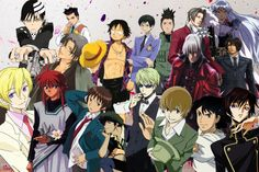 Hot anime guys collage