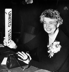 Former First Lady Eleanor Roosevelt 50's - a strong woman!