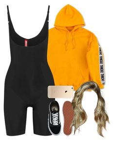 """28.03.17"" by jamilah-rochon ❤ liked on Polyvore featuring SPANX and Vans"