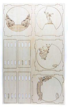 Marquetería para Regalar (con moldes)   Taringa! 3d Paper Art, Paper Pop, Cardboard Paper, Laser Art, 3d Laser, Laser Cut Wood, Origami And Kirigami, Paper Crafts Origami, Diy Paper