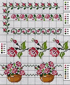 Handicrafts: Roses for embroidery cross stitch / Cross stitch roses Cross Stitch Boarders, Cross Stitch Rose, Cross Stitch Flowers, Cross Stitch Charts, Cross Stitch Designs, Cross Stitching, Cross Stitch Patterns, Blackwork Embroidery, Cross Stitch Embroidery