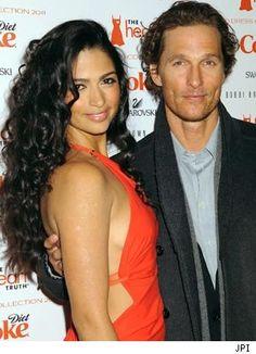 Celebrity Couple: Matthew McConaughey & Camila Alves, (engaged 12/25/11; 2 children)
