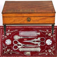 mid-late 1700s--beautiful sewing box