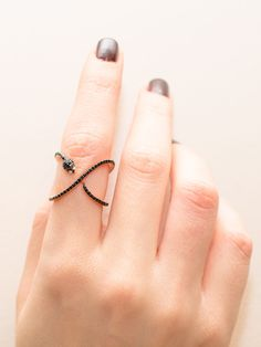 Snake Criss Cross Ring Snake Ring Sterling by SaniCollection Baguette Engagement Ring, Baguette Diamond Rings, Gold Bar Earrings, Crystal Earrings, Snake Jewelry, Gold Jewelry, Jewellery, Minimalist Earrings, Minimalist Jewelry