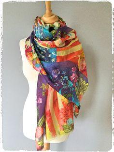Cashmere Silk Scarf - Possibilities in the sky by VIDA VIDA j9WKNhB