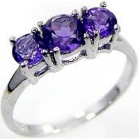 1.45ctw Genuine Amethyst & Solid .925 Sterling Silver Gemstone Ring (SJR1090A), birthstone rings. Buy Now: http://www.sterlingsilverjewelry.tv/genuine-amethyst-925-sterling-silver-gemstone-ring-sjr1090a.html #SterlingSilverJewelry #silverrings #sterlingsilverrings #ringsilver #silverringdesigns #handmaderings #silverringssterling #Rings #RingsJewelry