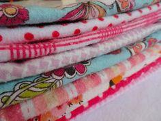 Rachel's Nest: Flannel baby wipes