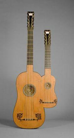 Doppelgitarre von Alexandre Voboam aus dem Jahr 1690;  Inv. Nr.: SAM_53