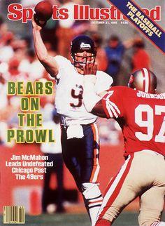 buy Jim McMahon of The Bears Sports Illustrated cover reprints Nfl Football Teams, Bears Football, Football Helmets, Cubs Sox, 1985 Chicago Bears, Jim Mcmahon, Si Cover, Sports Illustrated Covers, Black Sharpie