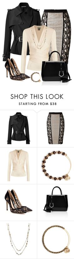 """""""Work It"""" by stylecrushh ❤ liked on Polyvore featuring Bouchra Jarrar, Blumarine, Issa, Alex and Ani, Gianvito Rossi, Fendi and INC International Concepts"""