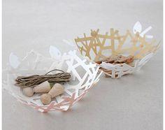 Torinosu, bird's nest bowl made of paper (on Upon a Fold)