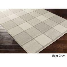Hand Woven Bay Wool Rug (8' x 10') (Light Grey), Size 8' x 10'