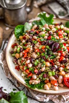 Healthy and utterly delicious, this easy to make Tuscan Bean Salad is filled with feel-good ingredients, aromatic herbs, and sure to make your belly happy. #vegan #oilfree #glutenfree #plantbased | monkeyandmekitchenadventures.com