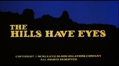 The hills have eyes movie title