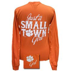 New South Carolina Clemson Tigers Small Town Girl Girlie Bright Long S | SimplyCuteTees