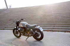 Moto Guzzi 2014 By Karoo Tailored Motorcycles Moto Guzzi, Guzzi V7, Vespa, Cafe Racers, Motorbikes, Motorcycles, Scrambler, Boats, Custom Bikes