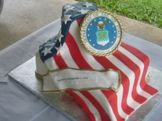 Air Force Flag Cake