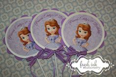 Sofia the First Centerpiece or Cake Top by FreshInkStationery, $4.50
