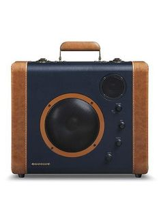 With a vintage suitcase style design, the SoundBomb Portable Speaker System allows you to easily take your music on the go. Featuring the latest Bluetooth technology, the SoundBomb allows you to wirel