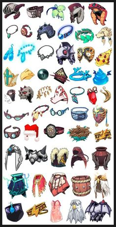 [게임UI 디자인] 캐주얼풍 느낌들의 게임UI 아이콘 및 컨셉디자인 모음