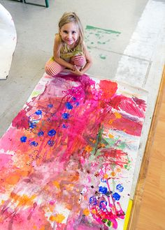 Large Scale Mural Workshop for Kids - Meri Cherry Art Activities For Kids, Preschool Art, Therapy Activities, Educational Activities, Art History Lessons, Art Lessons, Kids Canvas Art, Large Canvas, Mural Art