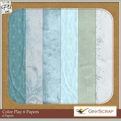 Color Play 6 - Papers by Giny Scrap: Scrap Art Studio, Where Creativity Soars