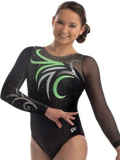 Abstract Floral Competition Leotard from GK Elite
