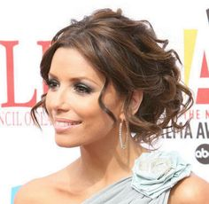 Mother of the Bride Hairstyles Partial Updo | ... /wp-content/uploads/2012/10/Eva-Longoria-Updo-Bridal-Hairstyles.jpg