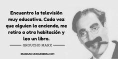 Divertida frase de Groucho Marx sobre la lectura