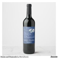 Shop Denim and Diamonds Wine Label created by MetroEvents.