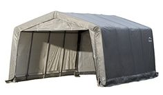 Compare ShelterLogic Garage-in-a-Box 12 ft. x 16 8 Peak Style Grey Garage prices online and save money. Find the lowest price on your favorite ShelterLogic Garage-in-a-Box 12 ft. x 16 8 Peak Style Grey Garage now. Canopies For Sale, Car Canopy, Portable Garage, Camping Shelters, Carport Garage, Thing 1, Cover Gray, Grey Fashion, Garage Storage