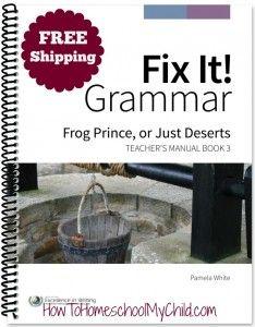 Fix It! Grammar Book 3 - BEST way to learn English grammar & FREE shipping from HowToHomeschoolMyChild.com